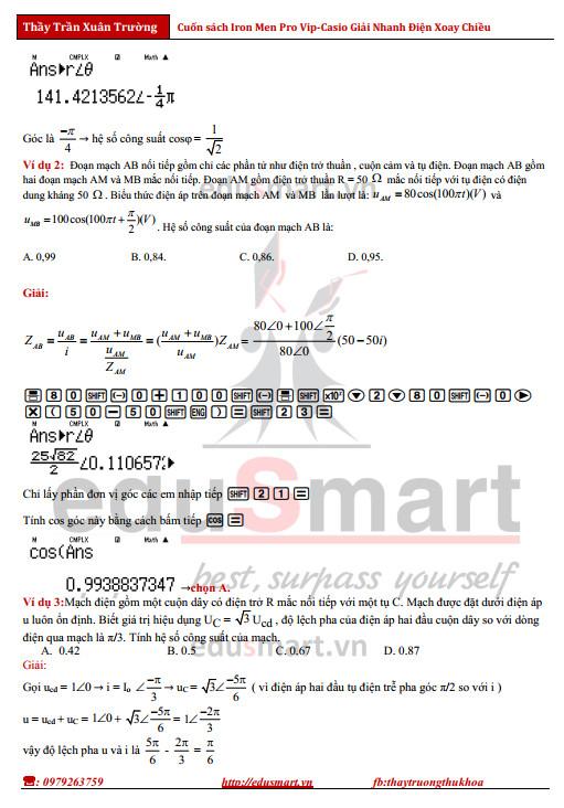 giải nhanh bài tập trắc nghiệm vật lý